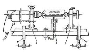 схема самодельного токарного станка