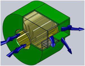 Схема работы радиального вентилятора