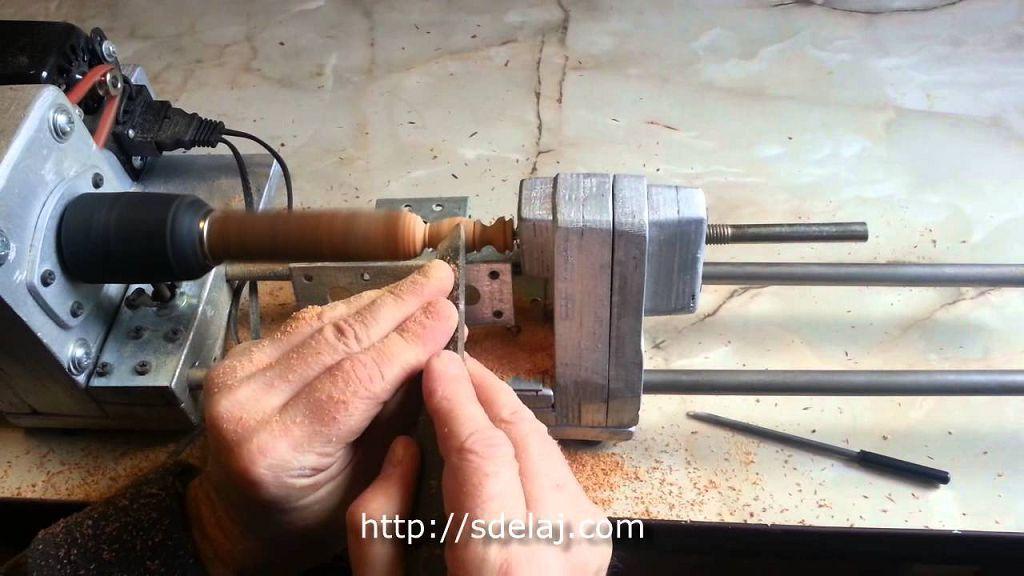 Мини токарный станок по дереву своими руками чертежи