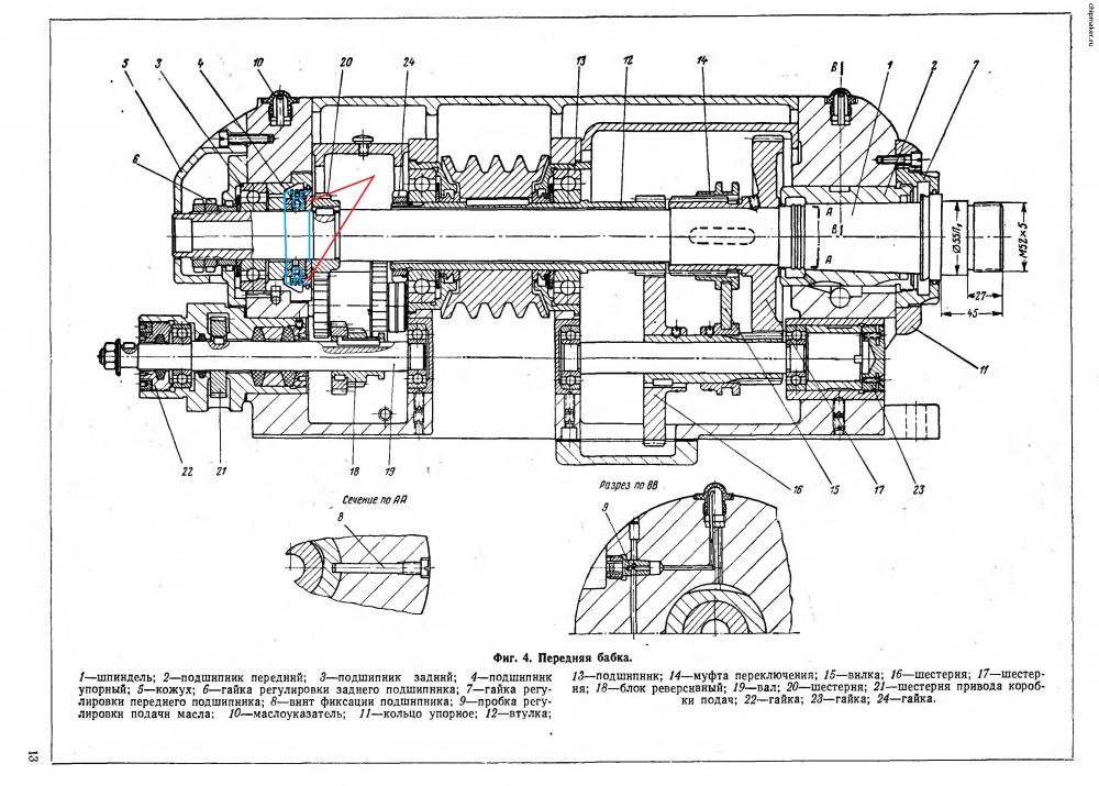Токарный станок схема устройство