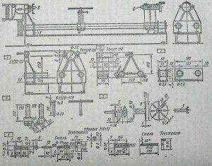 Пример схемы самодельного токарного станка по дереву