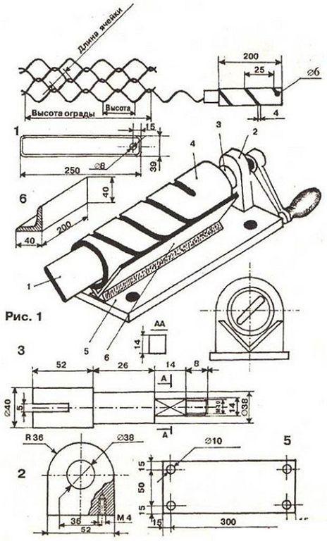 Станок для изготовления сетки