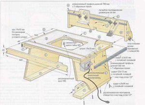 Конструкция фрезерного стола