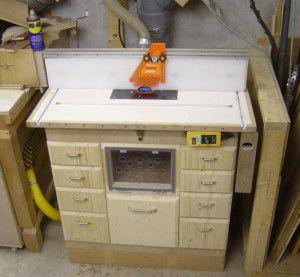 Пример эргономичного фрезерного стола
