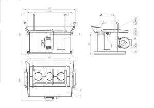 Чертеж станка с вибрационным и подъемным механизмом
