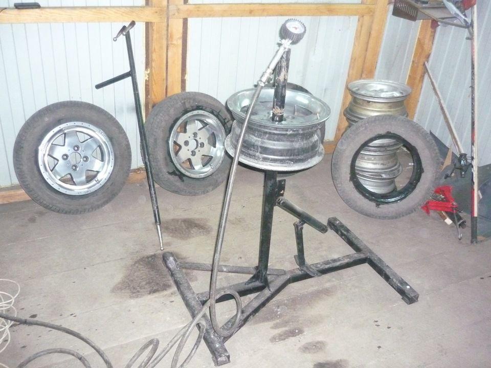 Разбортовка колес своими руками