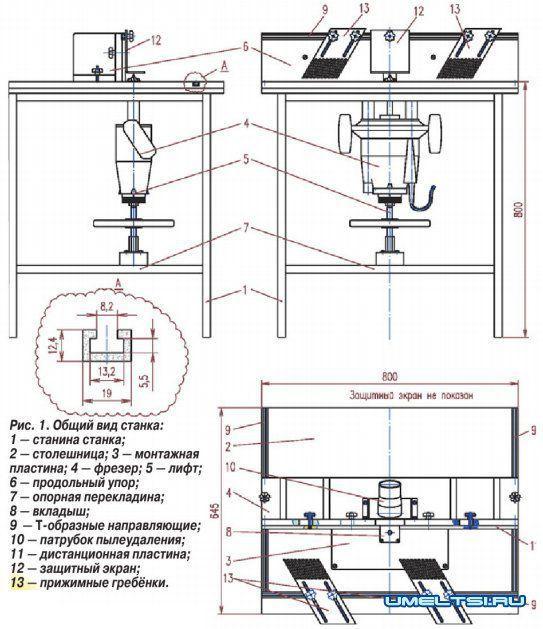 Как сделать фрезерный станок по дереву своими руками чертежи
