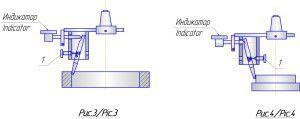 Схема индикаторного центроискателя