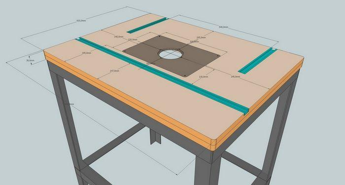 Как сделать стол для ручного фрезер