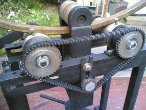 самодельный вальцовочный станок для гибки профильной трубы