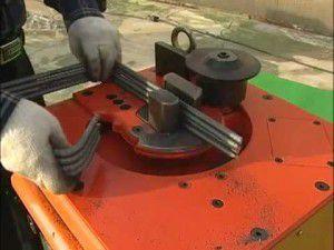 гидравлический стационарный станок для гибки арматуры