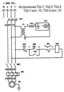 Электрическая схема оборудования