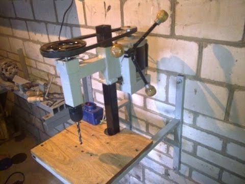 Изготовление сверлильного станка своими руками