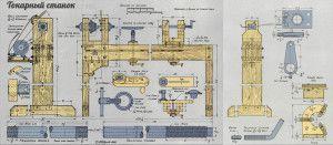 Схема изготовления станка